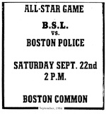 Boston Police vs. BSL Allstars